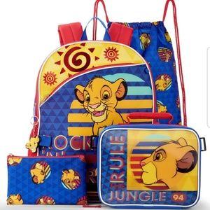 *1 LEFT* Disney's Lion King 5 Piece Backpack Set